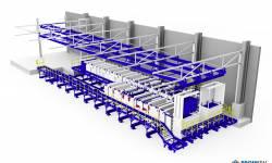 Technologická konstrukce pro linku galvanického pokovování